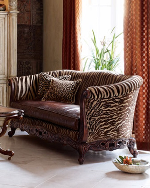 Neiman Marcus Tiger Stripe Sofa Design Connection Inc Kansas City Interior  Design Blog