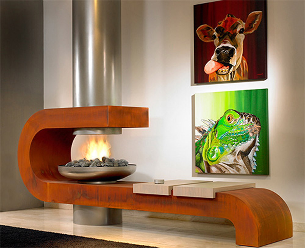 Contemporary Fireplace Design Connection Inc