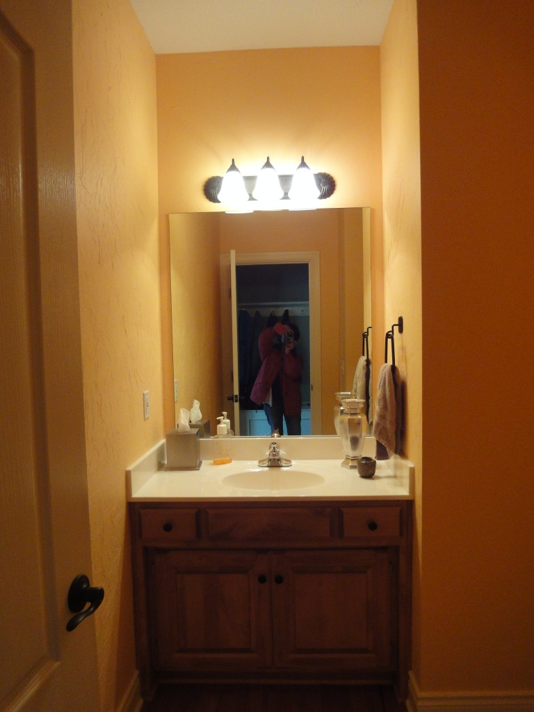A small powder room gets a big makeover design Very small powder room ideas