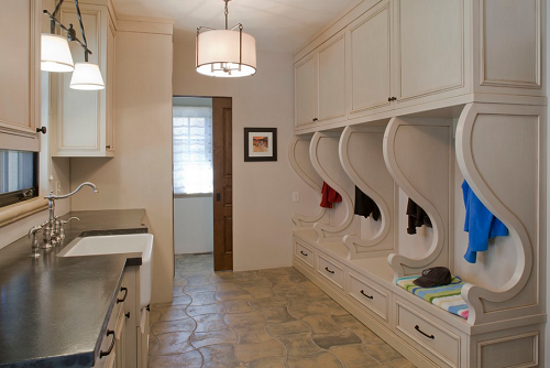 The dirt stops here creating your ideal mud room for Bathroom mudroom combo