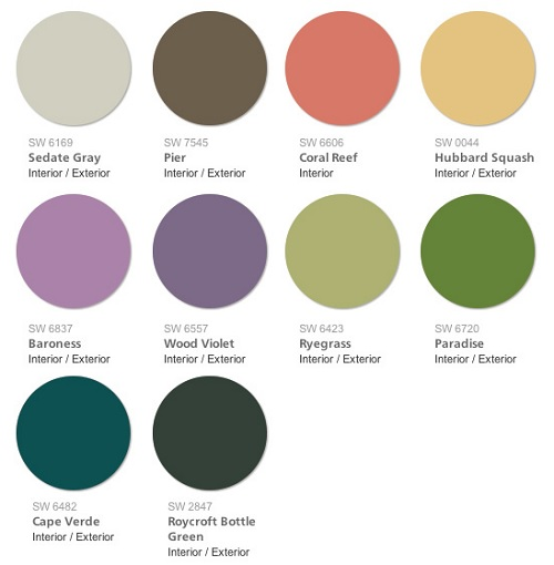 Pantone 2017 Interior Trends Furniture on sherwin williams 2016 color trends
