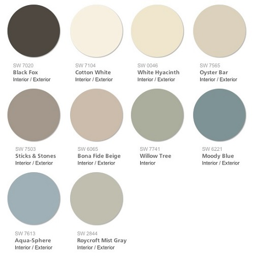 Interior design color trends 2015 Trending interior paint colors