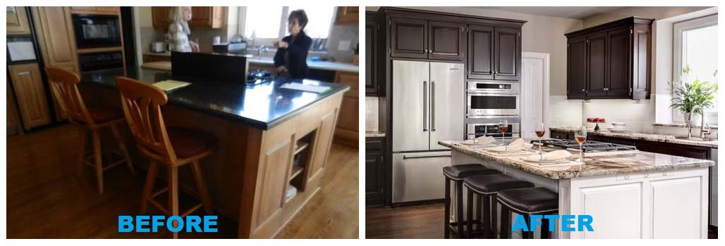 Before and after interior design before and after shot of for A kitchen connection
