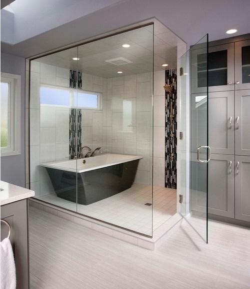 Exceptional Freestanding Bath Enclosed Shower Design Connection Inc Kansas City  Interior Design Blog