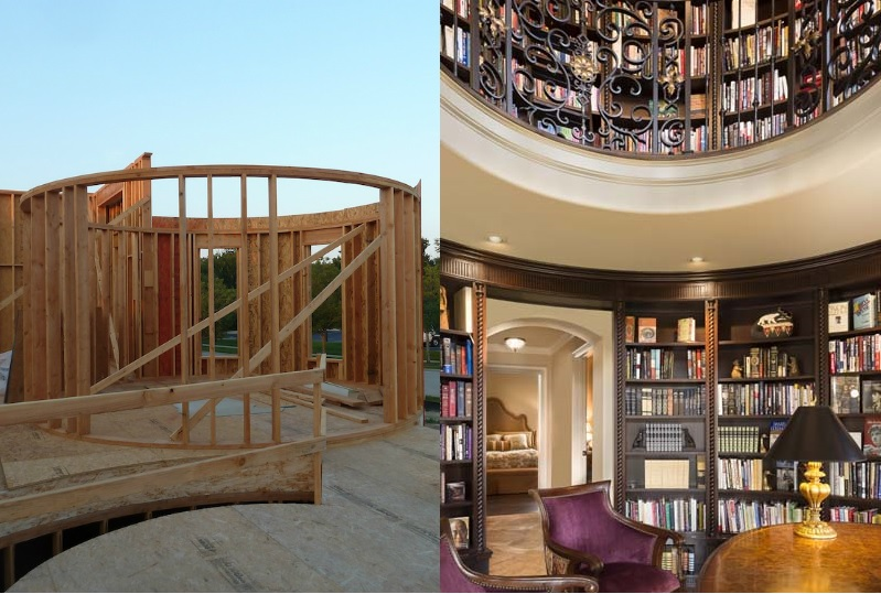 Before And After Circle Two Story Library Design Connection Inc Kansas City Interior