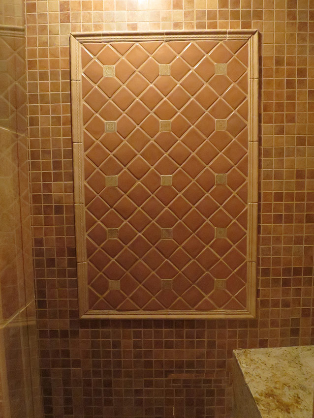 Lower Level Bathroom Tile Detail - After