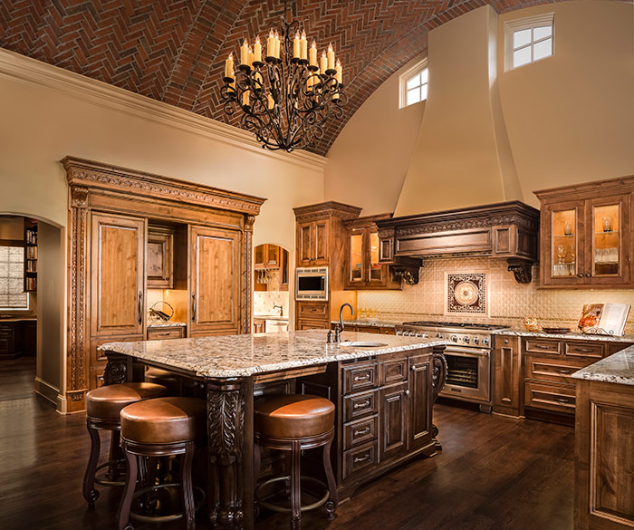 Tuscan style kitchen remodel in shoal creek mo design for Tuscan style kitchen lighting