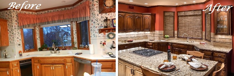 Before and After Kansas City Kitchen Remodel