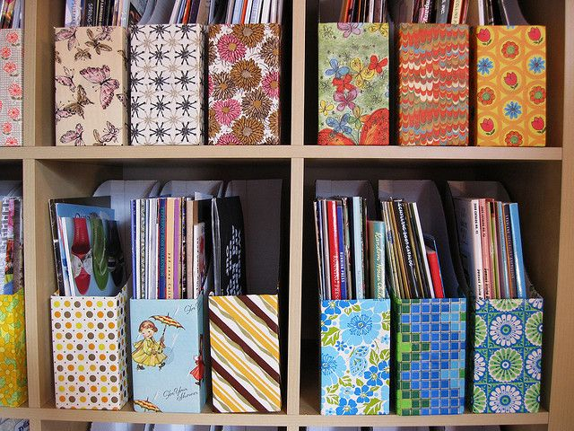 Magazine File Box Scrapbook Cover Interior Designer Kansas City