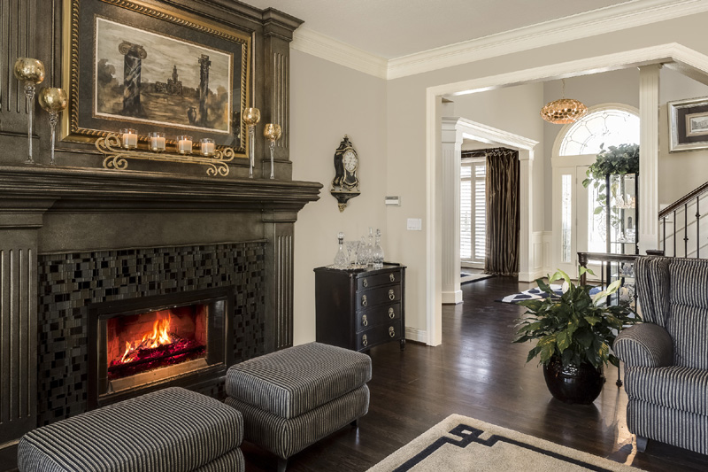 Gold Fireplace Design Connection Inc Kansas City Interior Designer