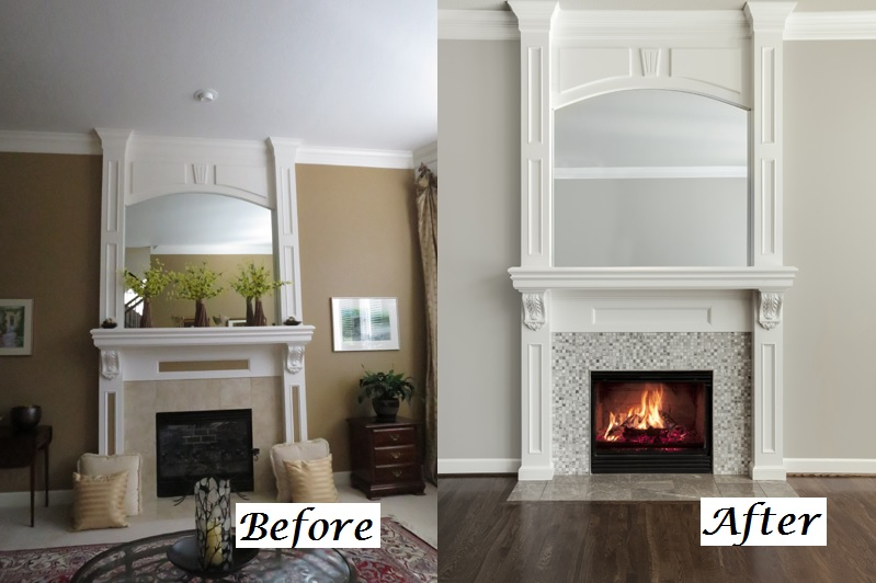 Before And After Fireplace 2 Kansas City Interior Designer