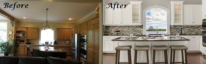 before after interior design