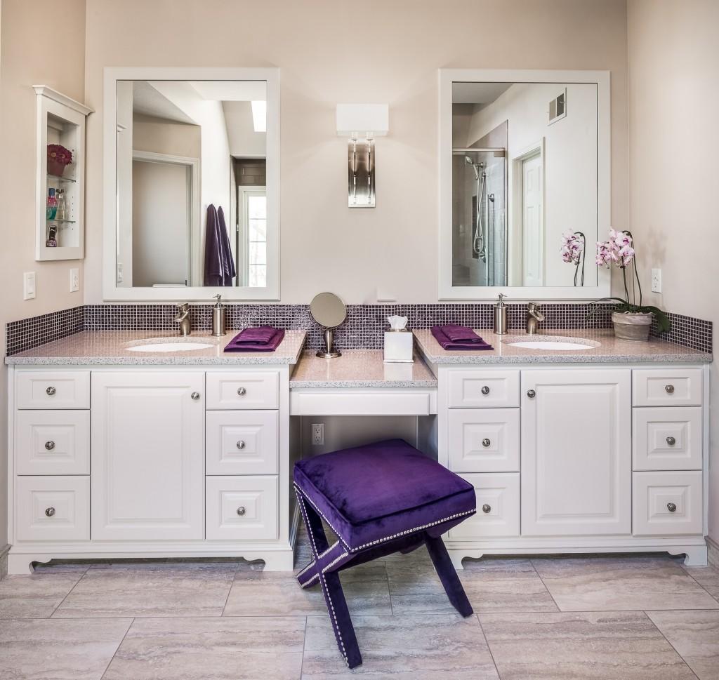 Elegant Bathroom Makeovers: 1980's Bathroom Gets Elegant Makeover: A Design Connection