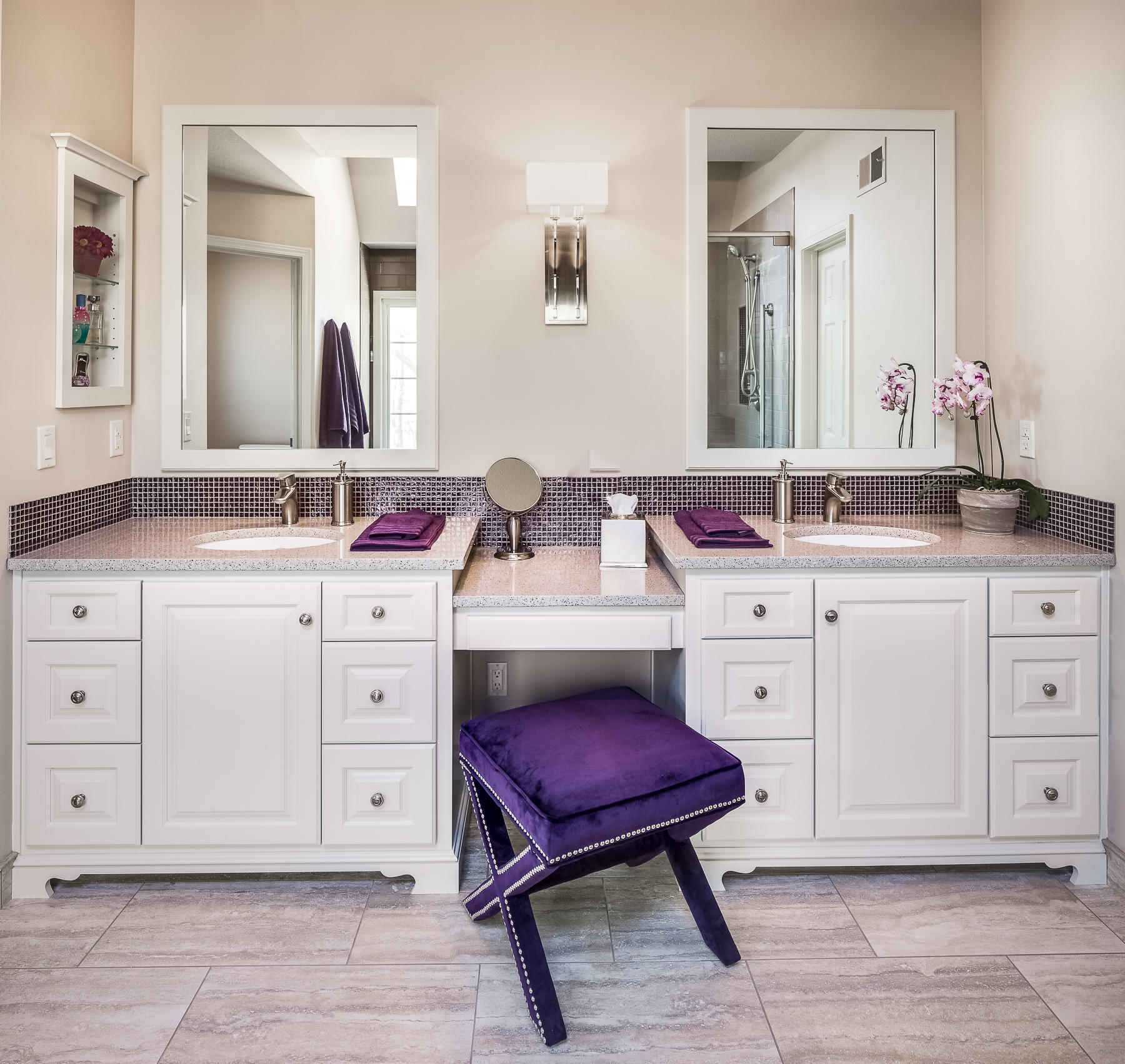 1980's bathroom gets elegant makeover: a design connection, inc