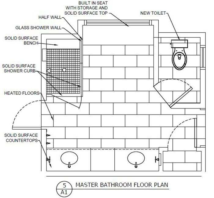 Master Bathroom Elevations Space Plan Design Connection Kansas City Interior Design