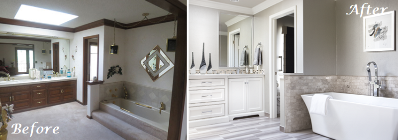 Blast from the past bathroom remodel a design connection inc featured project - S bathroom remodel before and after ...