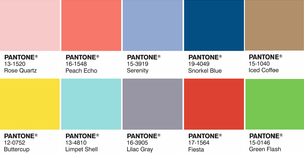 2016 color trends pantone 39 s two colors of the year rose On create pantone color palette