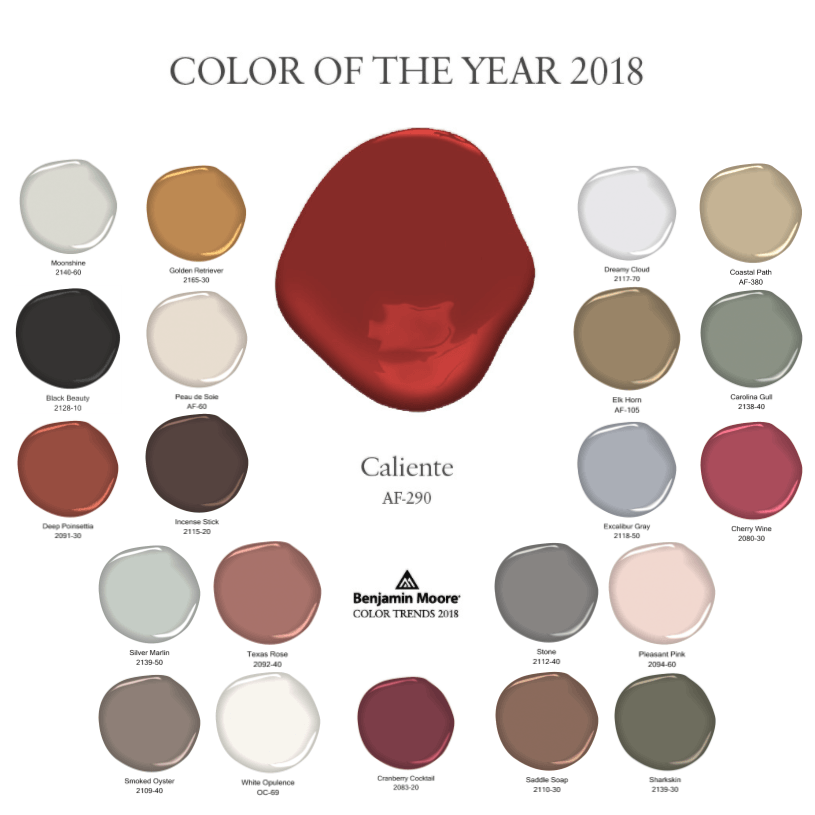 Colour Trends 2018: Interior Design Trends: 2018 COLORS OF THE YEAR