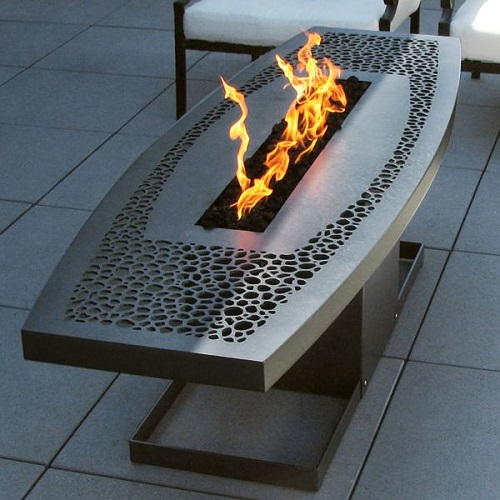 Coffee Table Fire Pit by Artisan John Xochihua Design Connection Inc Kansas City Interior Design Blog