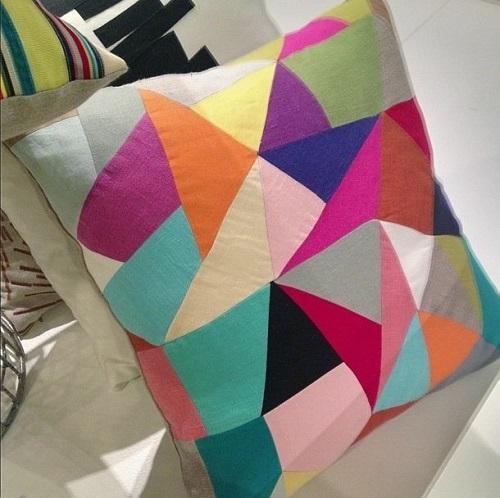 Patchwork Pillow High Point Market Design Connection Inc kansas City Interior Design Blog