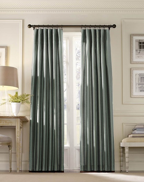 Taffeta Inverted pleat drapes Design Connection Inc Kansas City Interior Design Blog