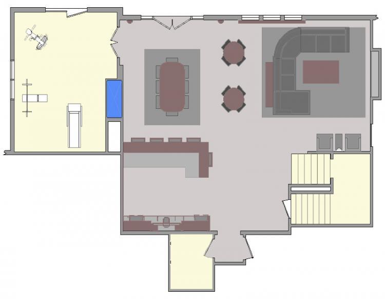 Blue Springs Lower Level Floor Plan