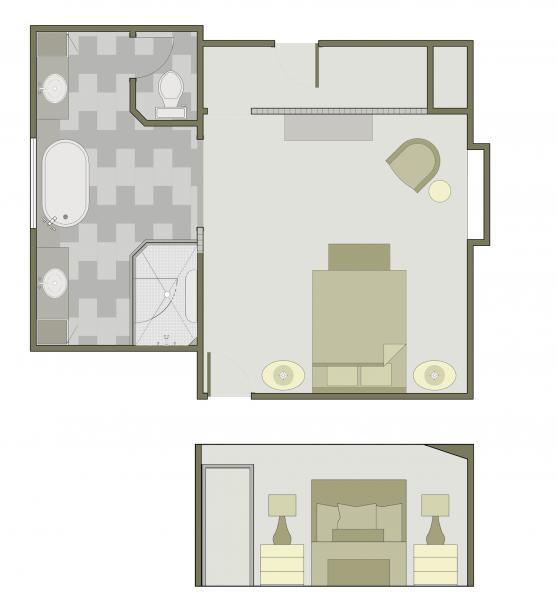 Leawood Master Bedroom Space Plan