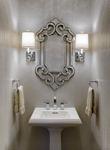 Leawood Powder Room - After