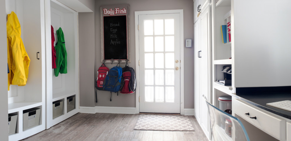 The dirt stops here creating your ideal mud room for Garderobe versteckt