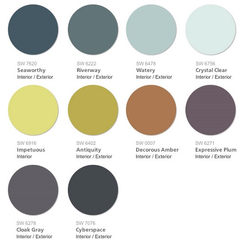 Sherwin Williams 2015 Color Forecast Voyage