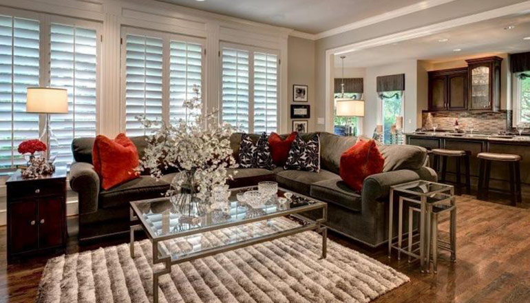 Leawood Transitional Great Room - After