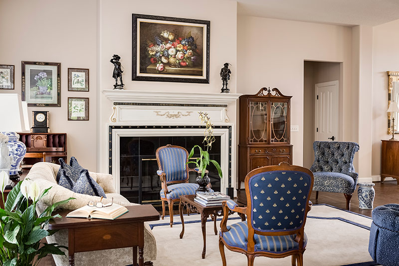 Traditional Living Room in Leawood, KS - After