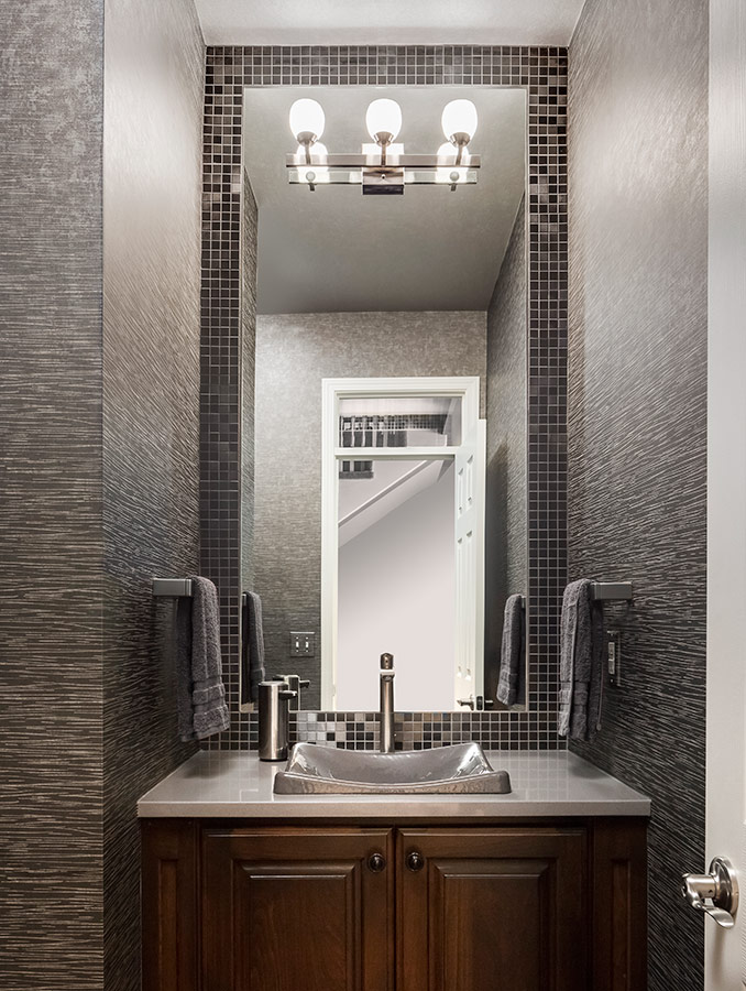 Powder Room Interior Design In Kansas City Design