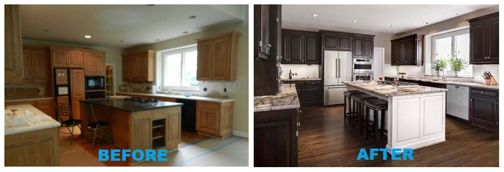 Before and After Kitchen by Design Connection Inc Kansas City Interior Designer