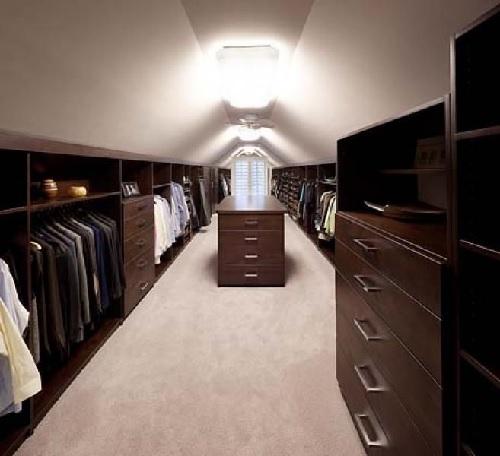 Attic Master Closet by Design Connection Inc Kansas City Interior Design
