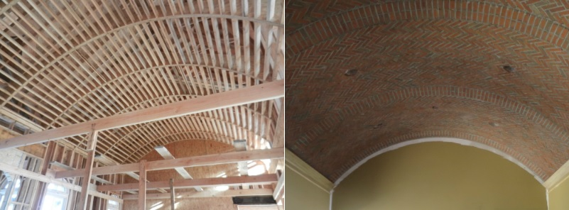 During Construction Barrel Ceiling Kitchen Design Connection Inc Kansas City Interior Design