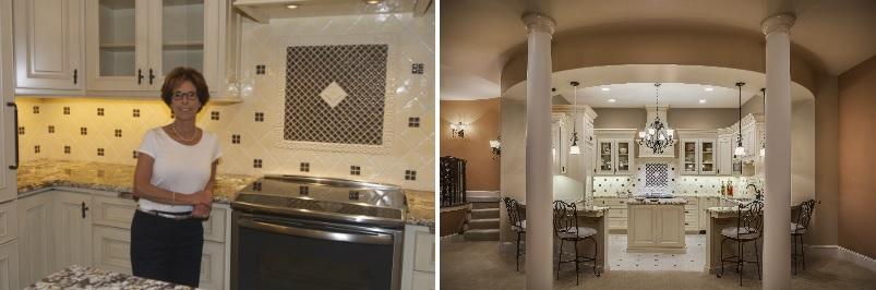 Lower Level Kitchen Before and After 2 Arlene Ladegaard Design Connection Inc Kansas City Interior Design