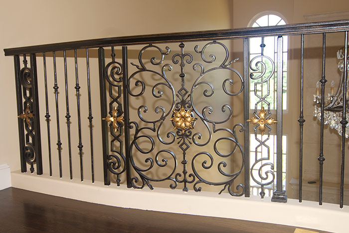 Entry Staircase Railing Detail