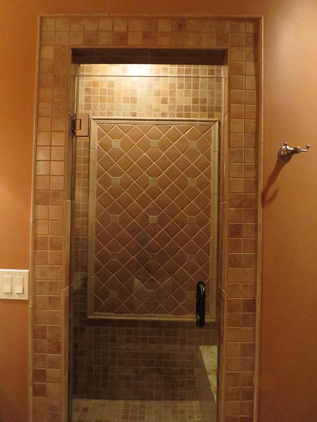 Lower Level Bathroom Tile Detail - After