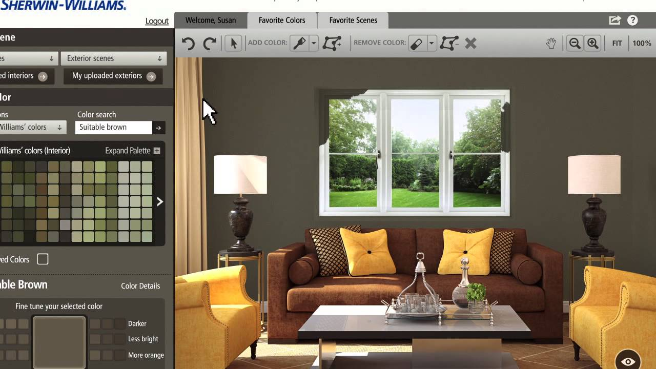 Living Room Color Visualizer looking for the perfect paint color? there's an app for that!