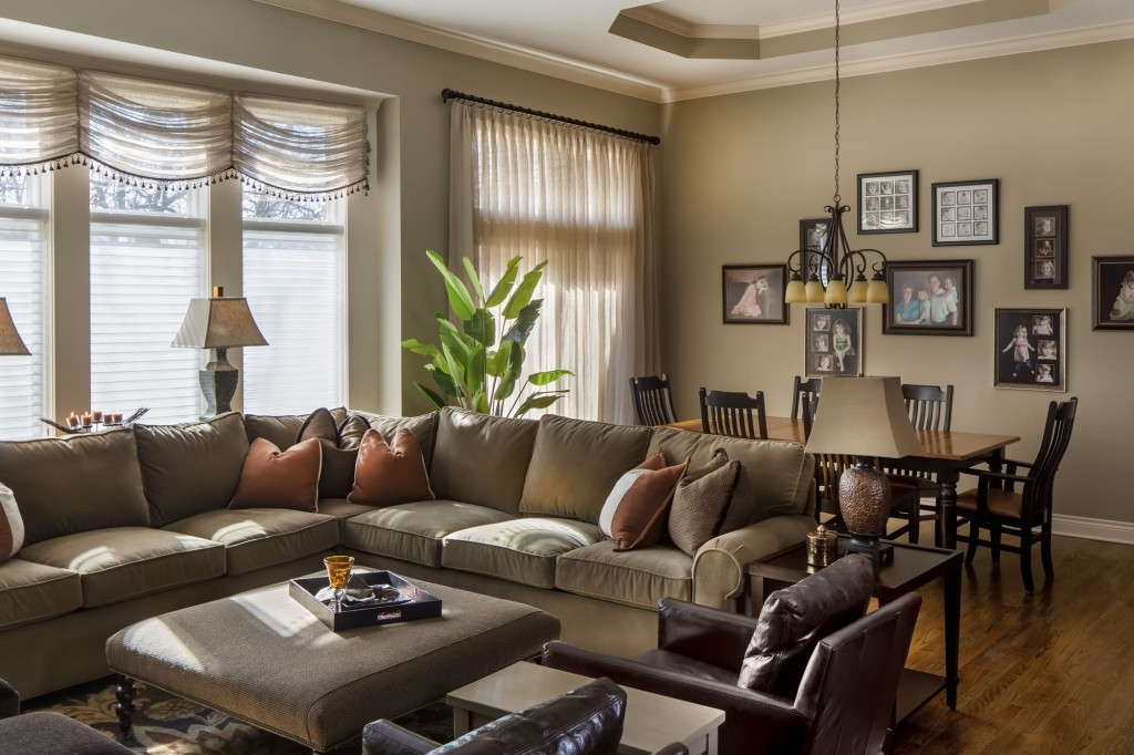 Great room d cor update a design connection inc featured project for Living room and family room ideas