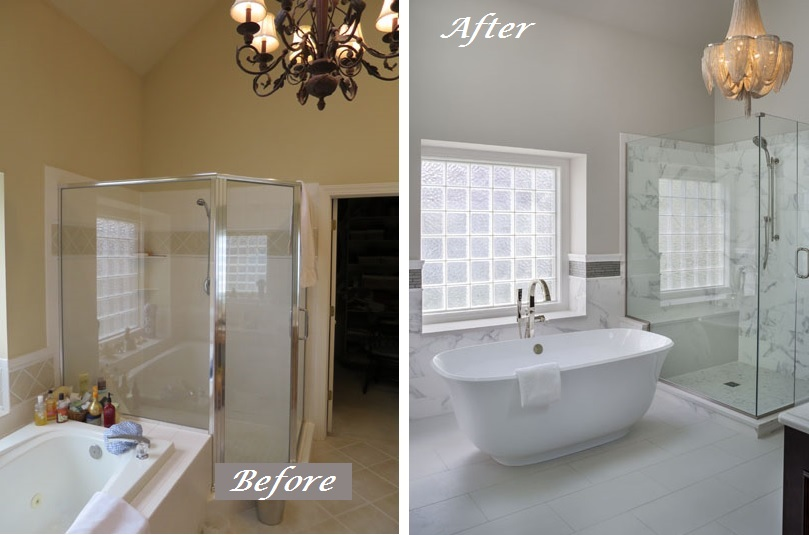 Delicieux Before And After Bathroom Remodel Kansas City Interior Designer