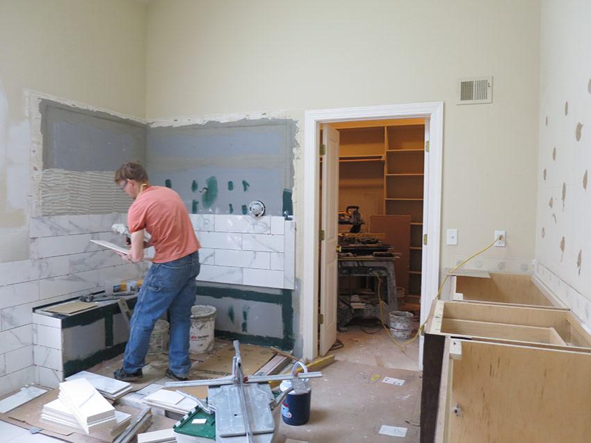 Leawood Master Bathroom Remodel - During