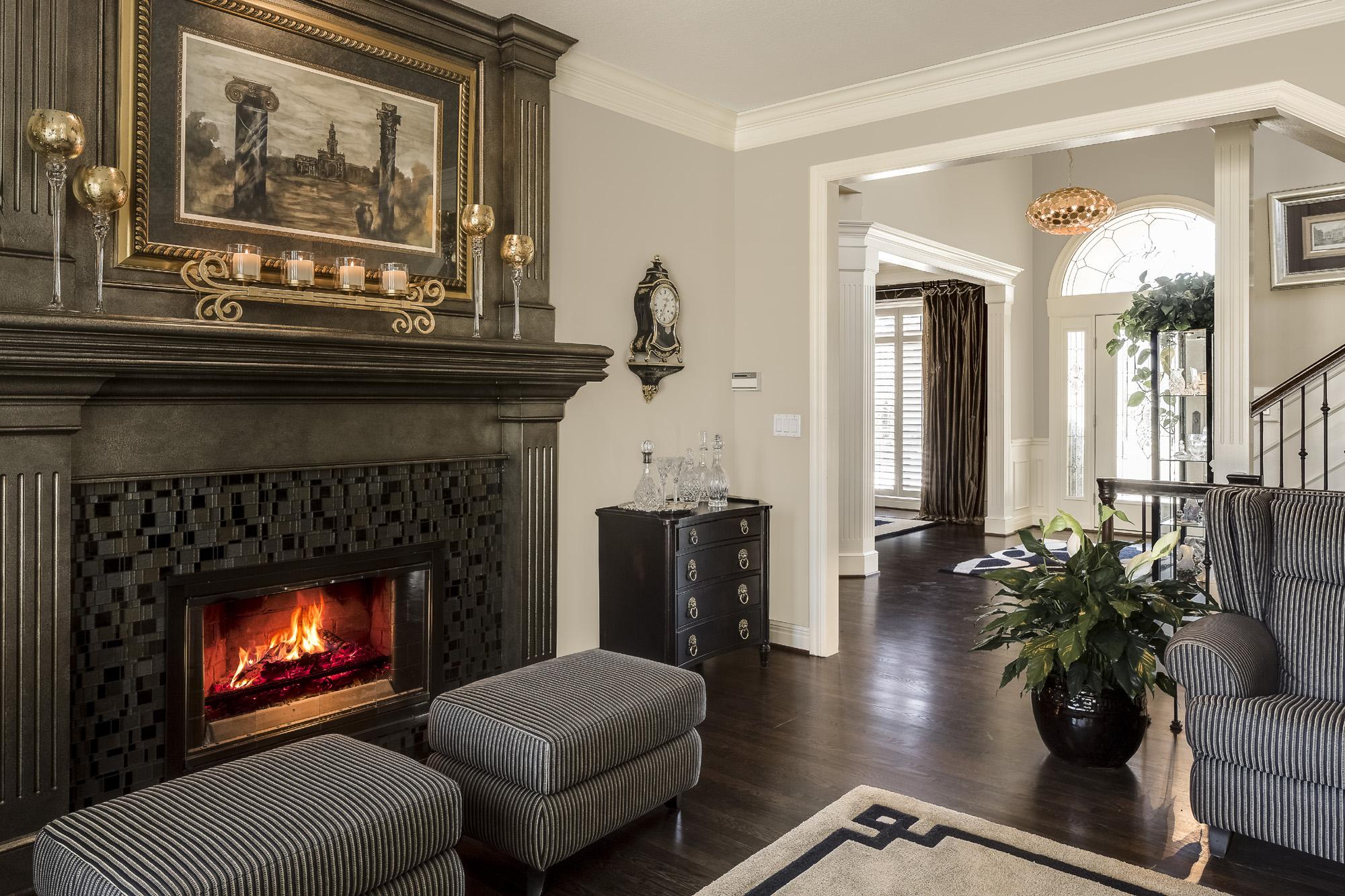 Gold Fireplace Design Connection Inc Kansas City Interior Designer