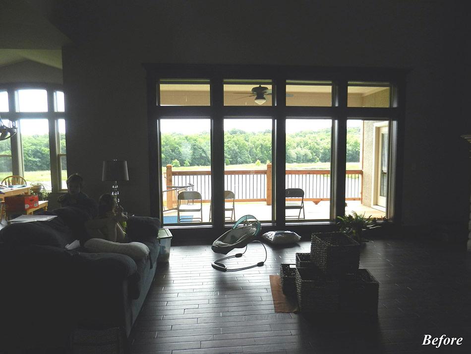 Great Room in Stilwell, KS - Before