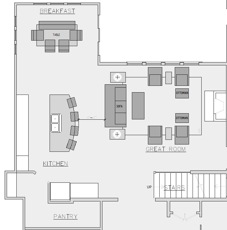 FloorPlan Great room Design Connection Inc Kansas City Interior Designer