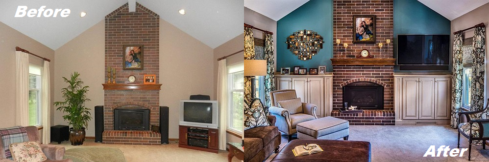 Fireplace Before After Transformations From Our Design Portfolio