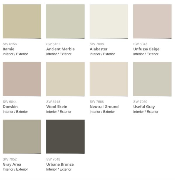 2016 Sherwin Williams Pura Vida Color Palette
