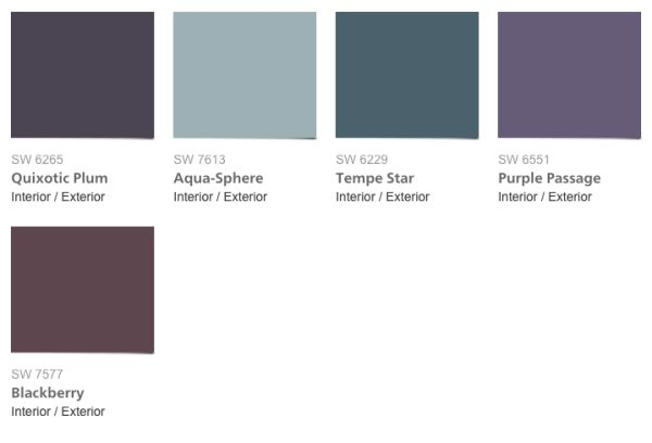 2016 Sherwin Williams Trajectory Color Palette