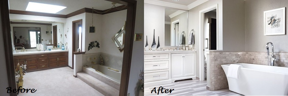 Before and After Bathroom Design Connection Inc Kansas City Interior Designer
